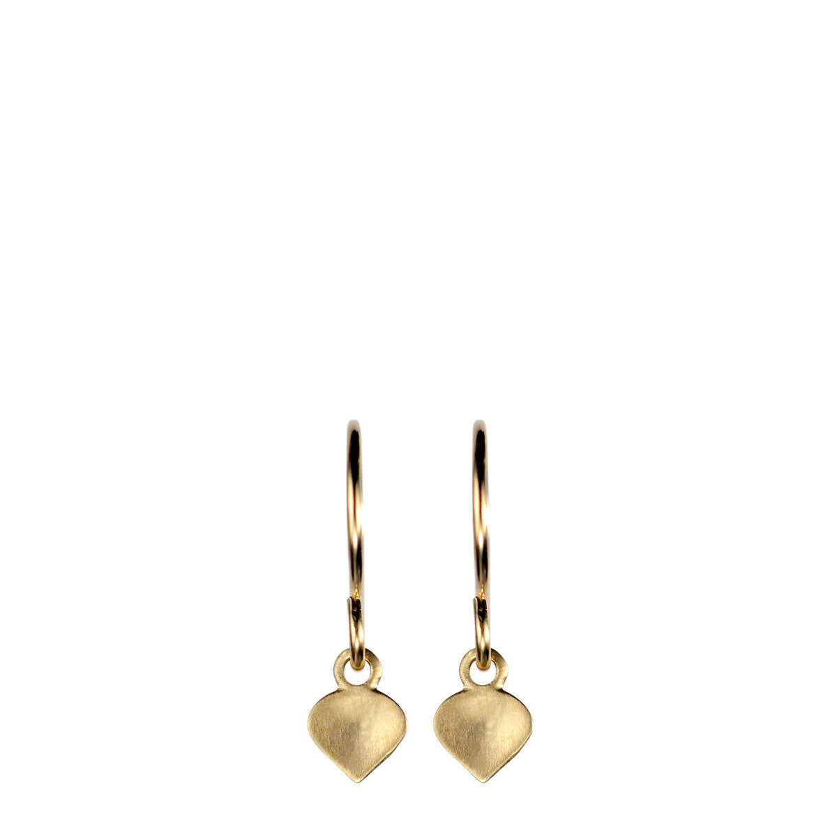 10K Gold Tiny Lotus Earrings