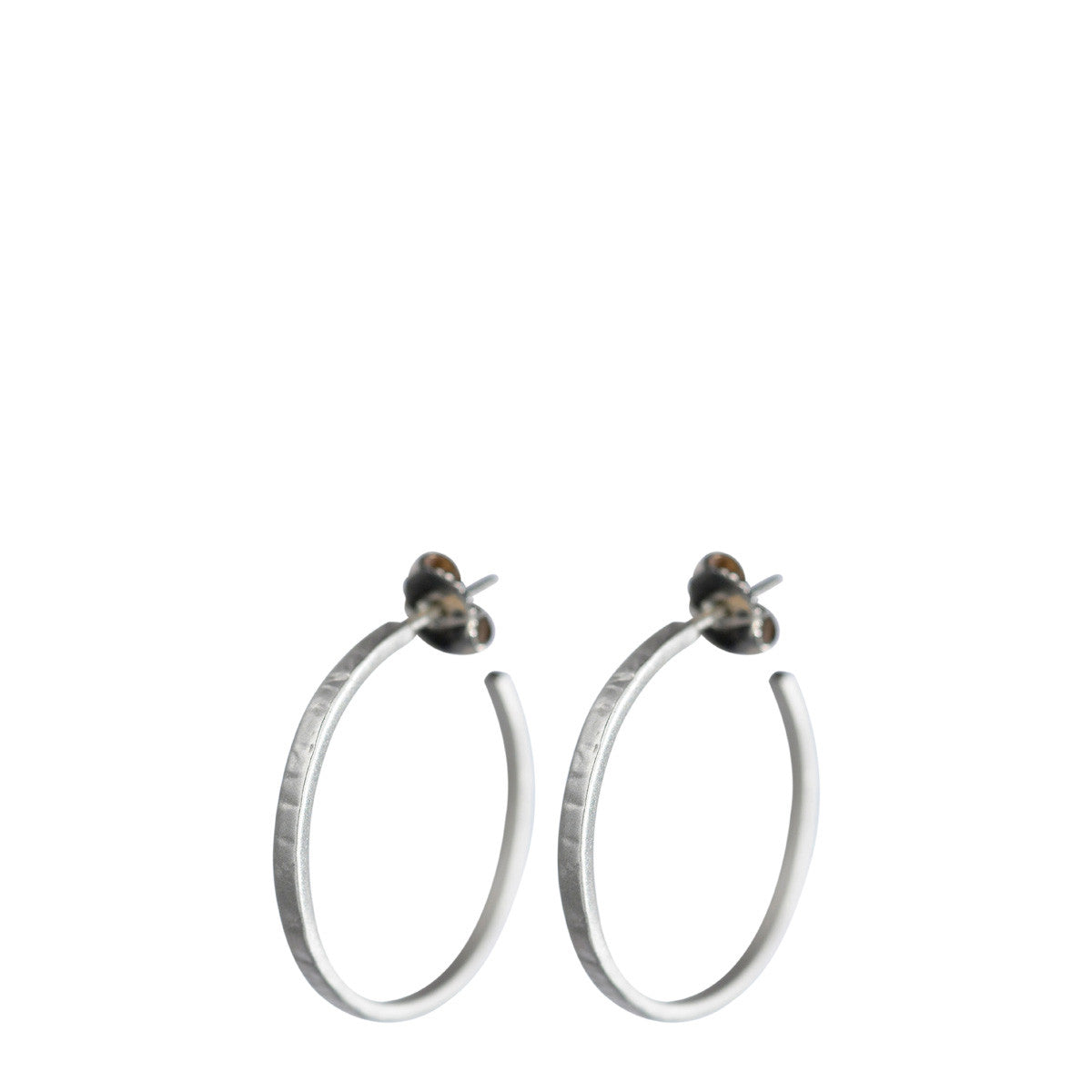 Sterling Silver Small Flattened Hoop Earrings