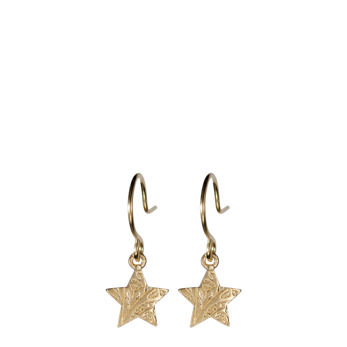 10K Gold Small Paisley Star Earrings
