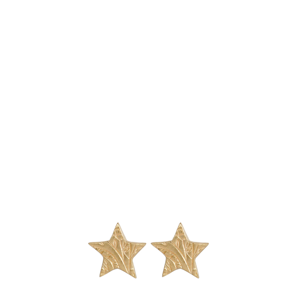 10K Gold Small Paisley Star Stud Earrings