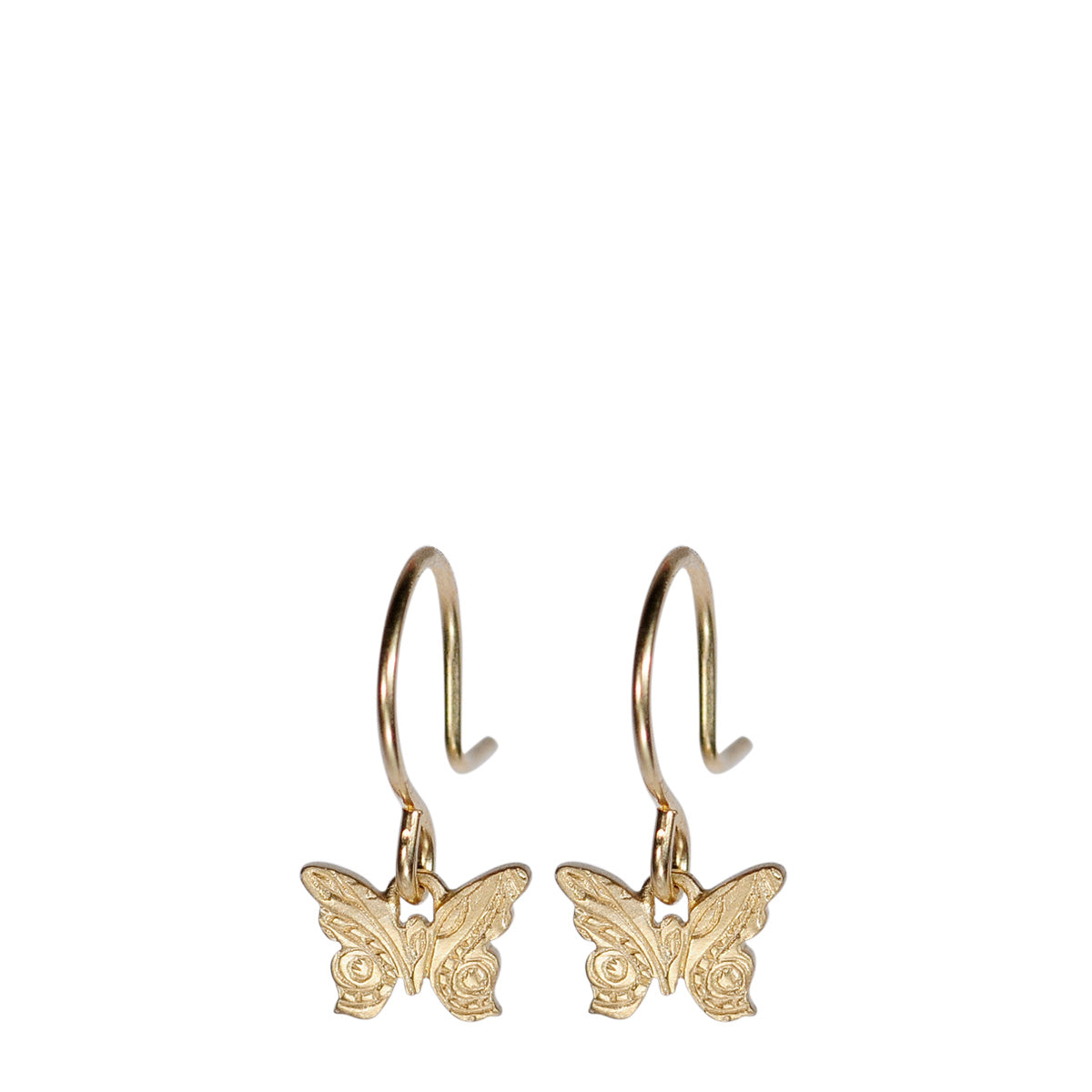 10K Gold Small Paisley Butterfly Earrings