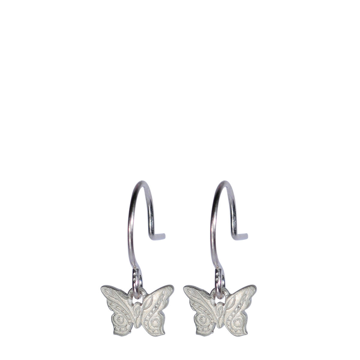 Sterling Silver Small Paisley Butterfly Earrings
