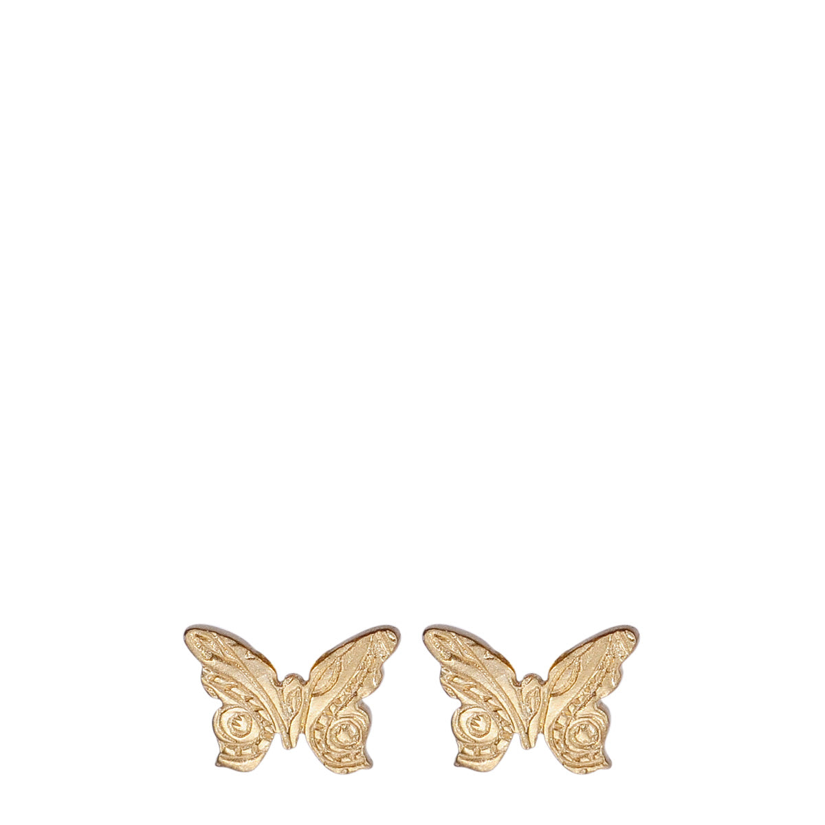 10K Gold Small Paisley Butterfly Stud Earrings