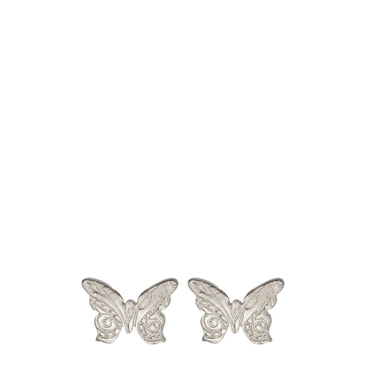 Sterling Silver Small Paisley Butterfly Stud Earrings