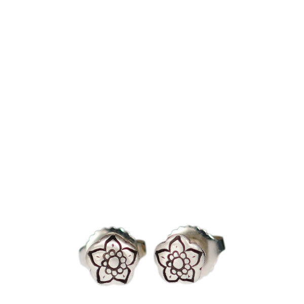 Sterling Silver Tiny Flower Stud Earrings