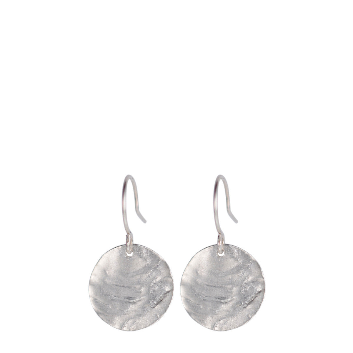 Sterling Silver Medium Shell Disc Earrings