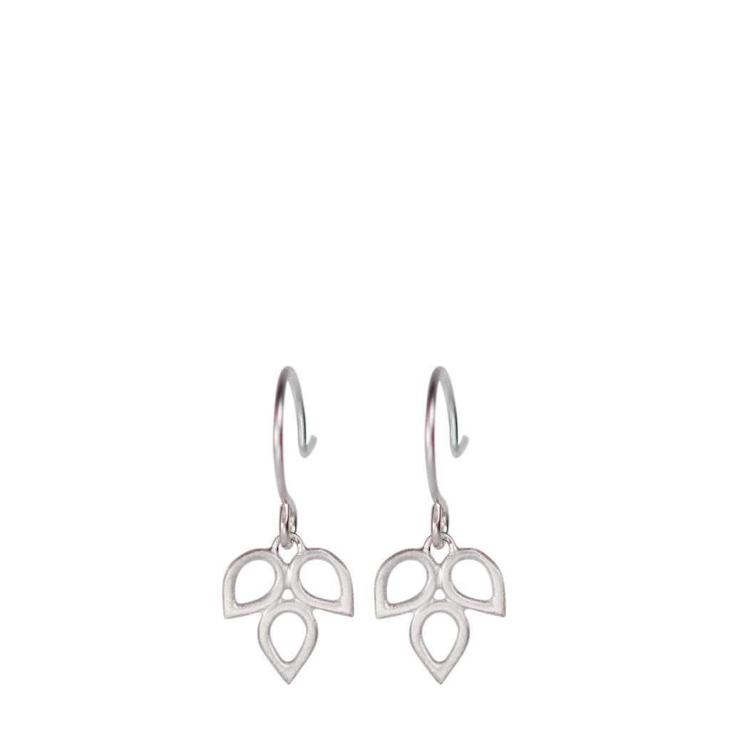 Sterling Silver Tiny Triple Open Teardrop Earring