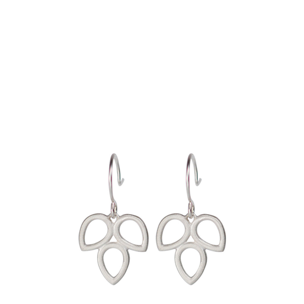 Sterling Silver Small Triple Open Teardrop Earring