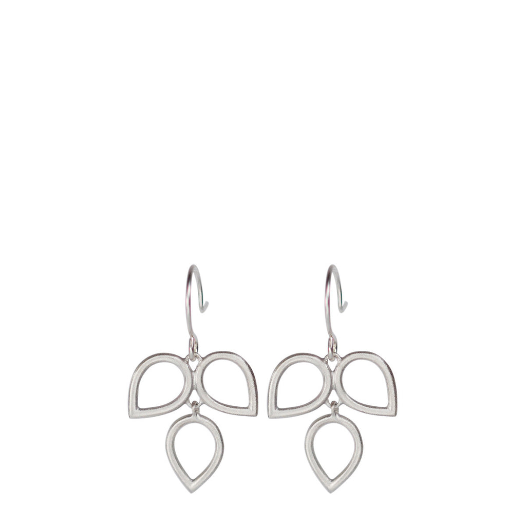 Sterling Silver 2 Tier Teardrop Earring