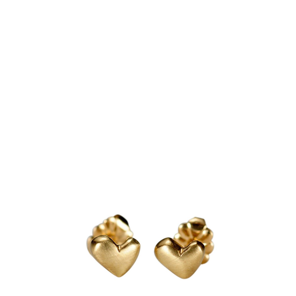 10K Gold Heart Stud Earrings