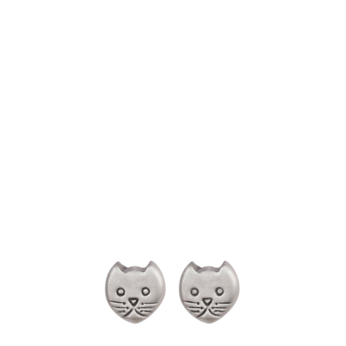 Sterling Silver Tiny Kitten Studs