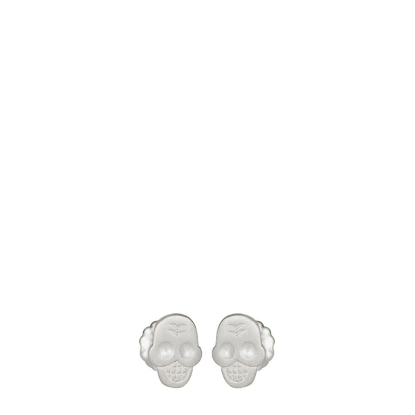 Sterling Silver Mini Skull Stud Earrings