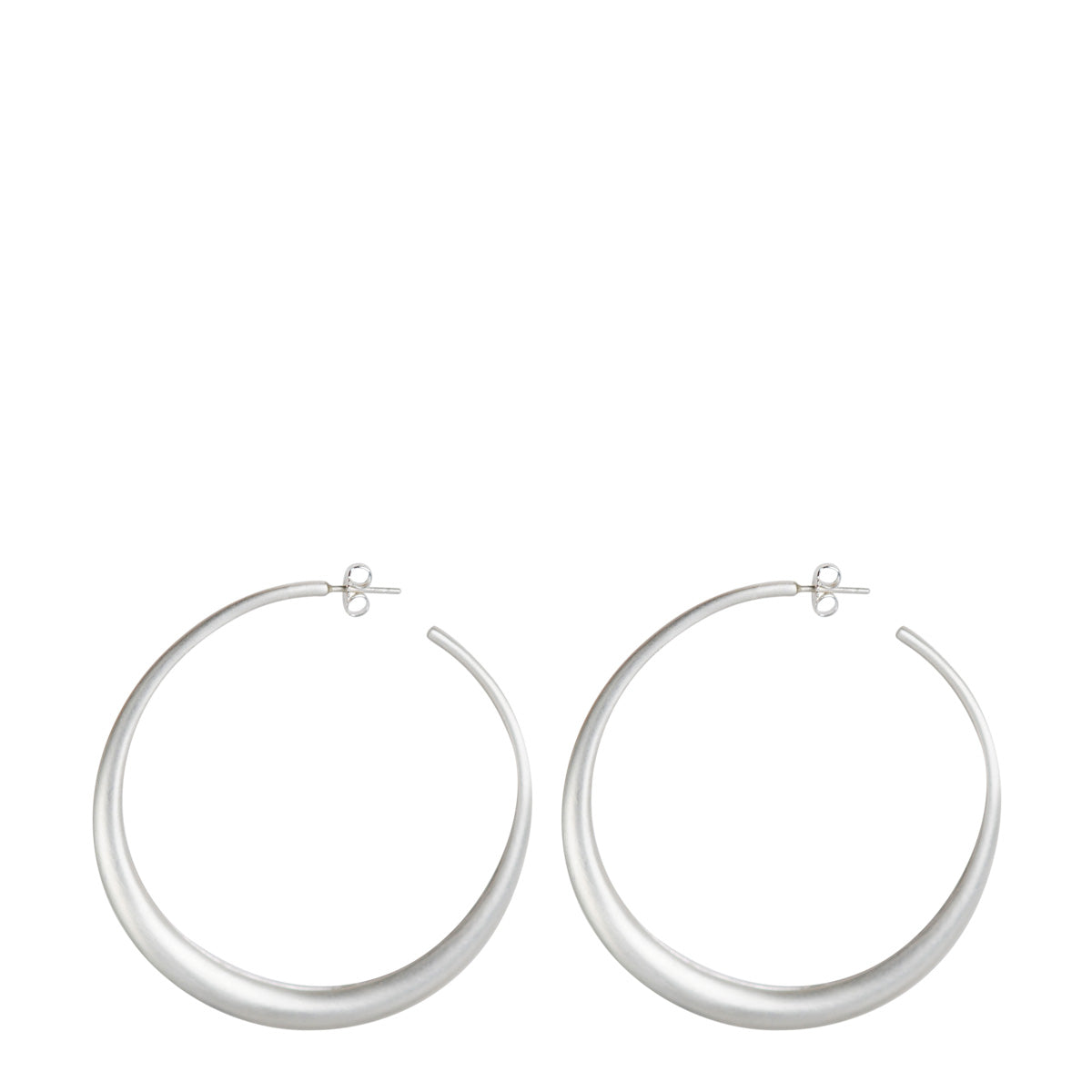 Sterling Silver Large Tibetan Hoop Earrings