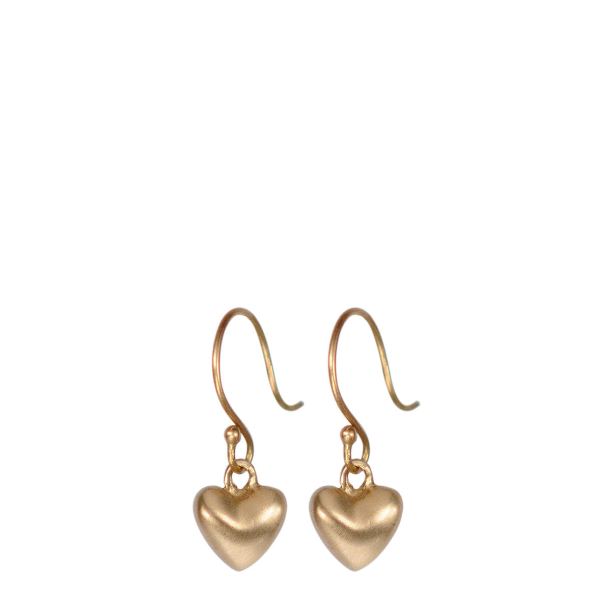 10K Gold Hanging Tiny Heart Earring