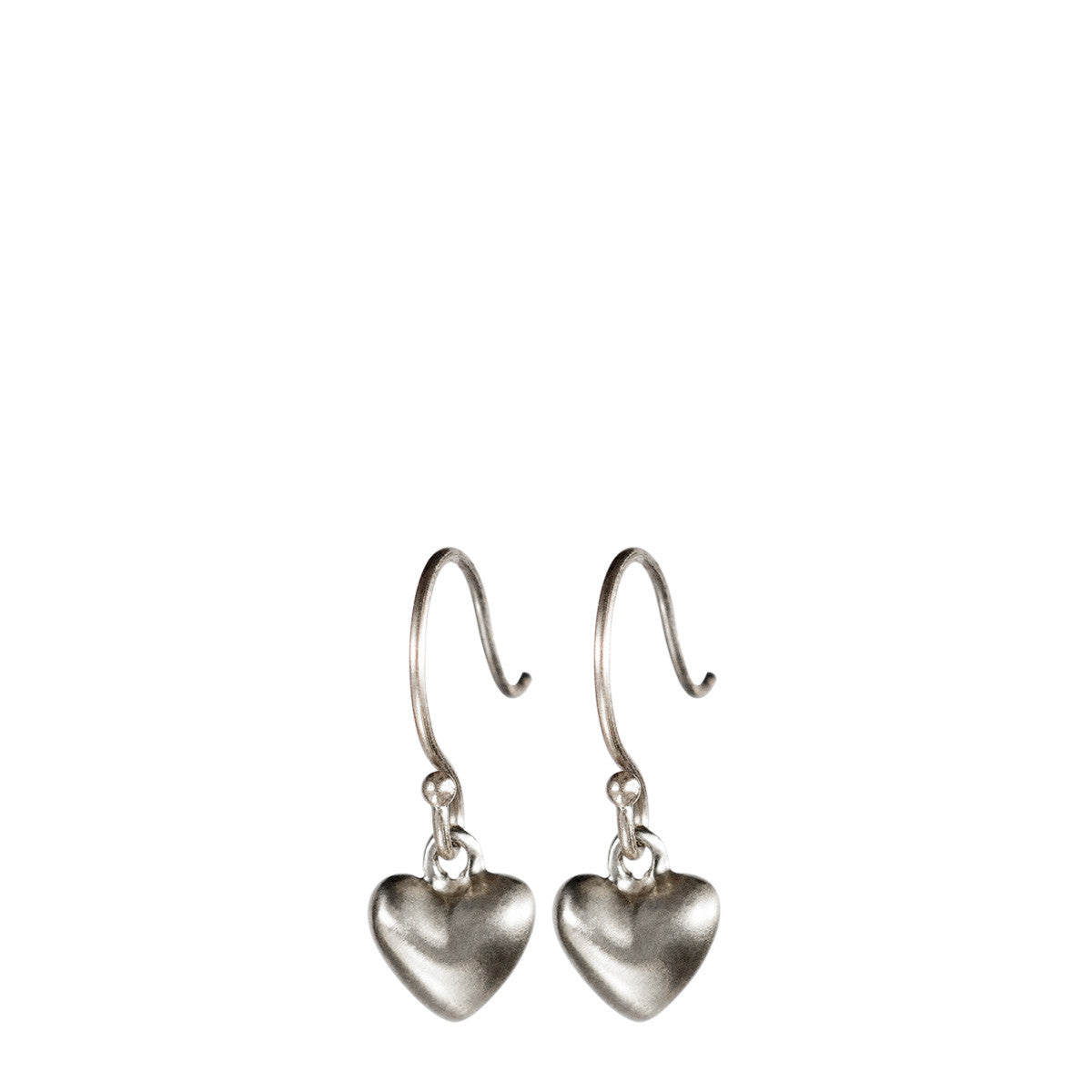 Sterling Silver Hanging Tiny Heart Earring