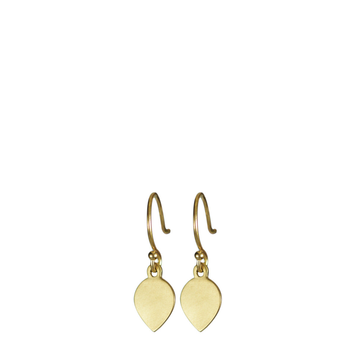 18K Gold Lotus Petal Earrings