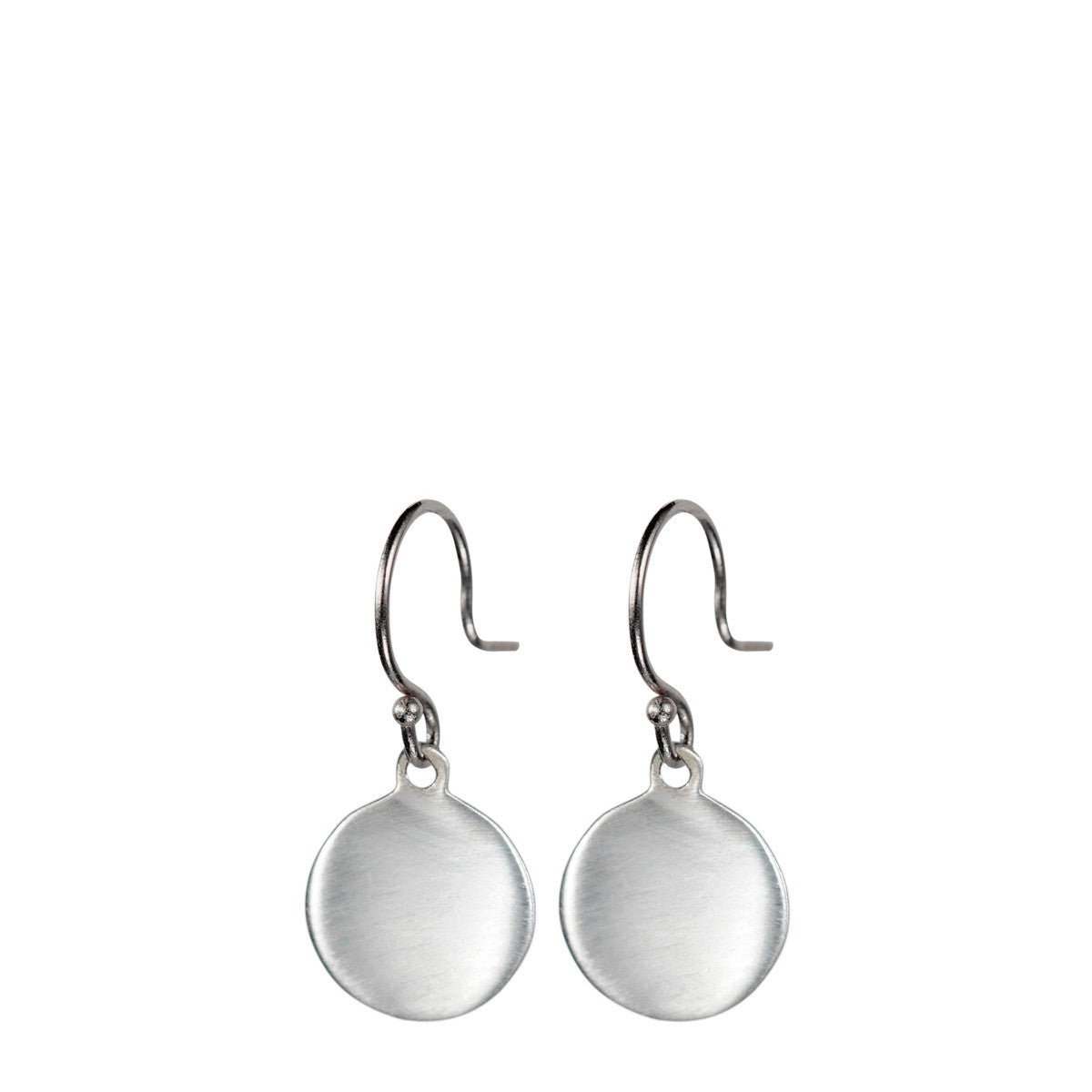 Sterling Silver Plain Disc Earring