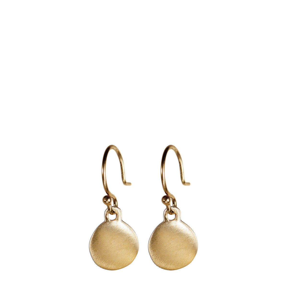10K Gold Tiny Disc Earring