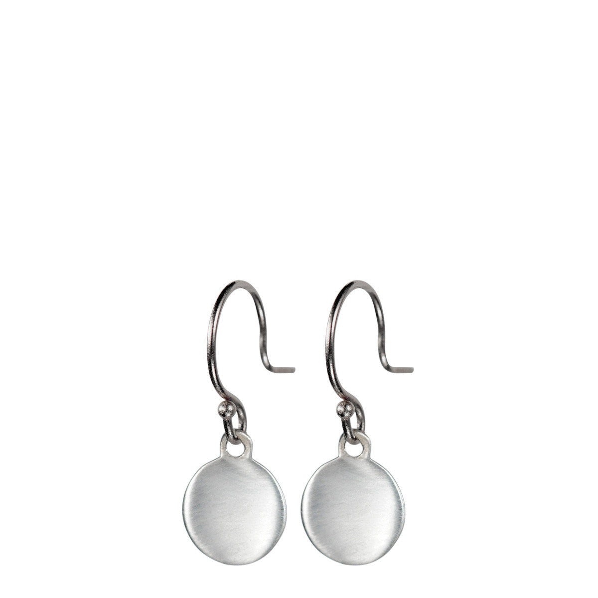 Sterling Silver Tiny Disc Earring