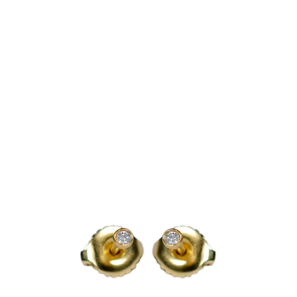 18K Gold 2mm Diamond Stud Earrings