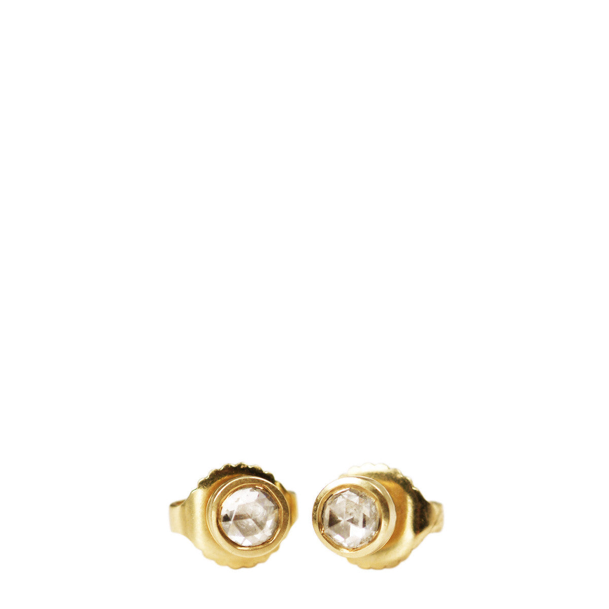 18K Gold 3mm Diamond Stud Earrings