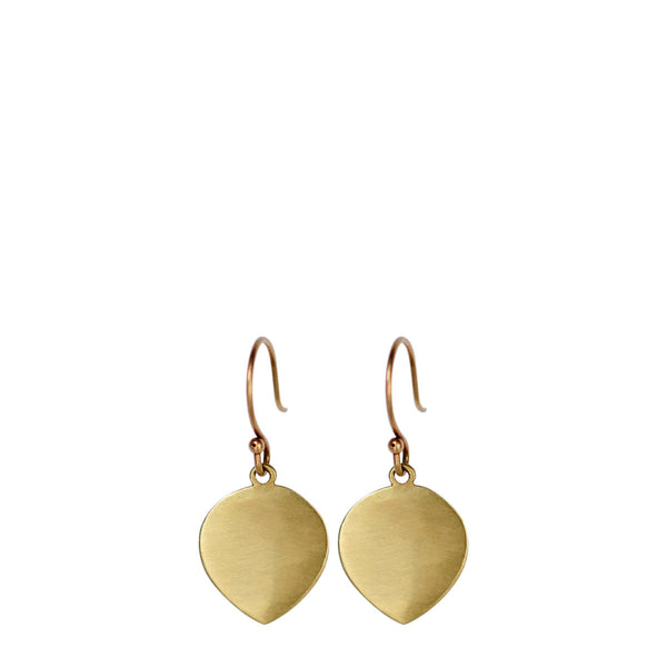 18K Gold Large Lotus Petal Earrings