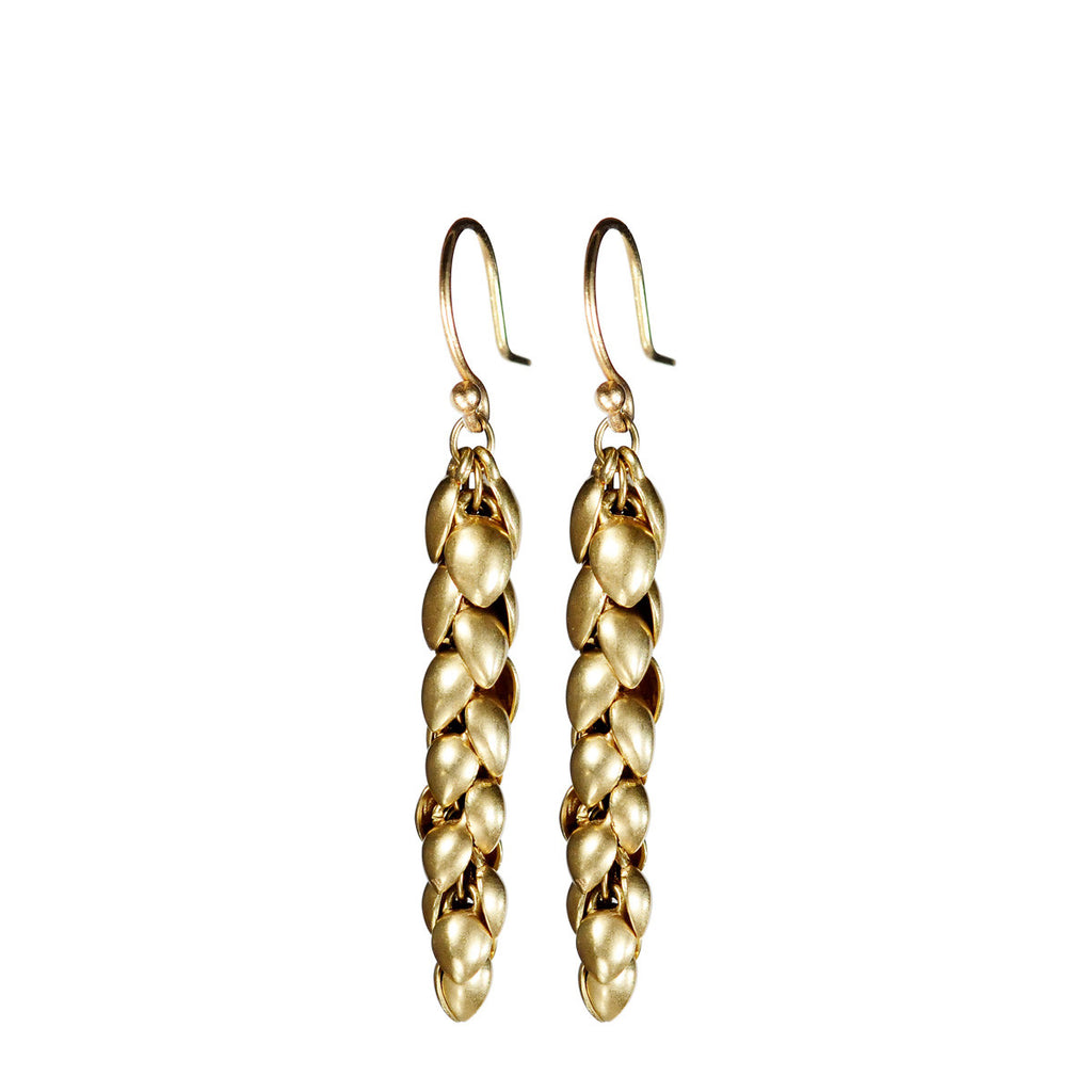 18K Gold Medium Pod Earrings