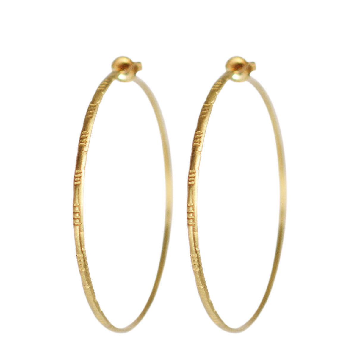 18K Gold Large Moroccan Endless Hoop Earrings