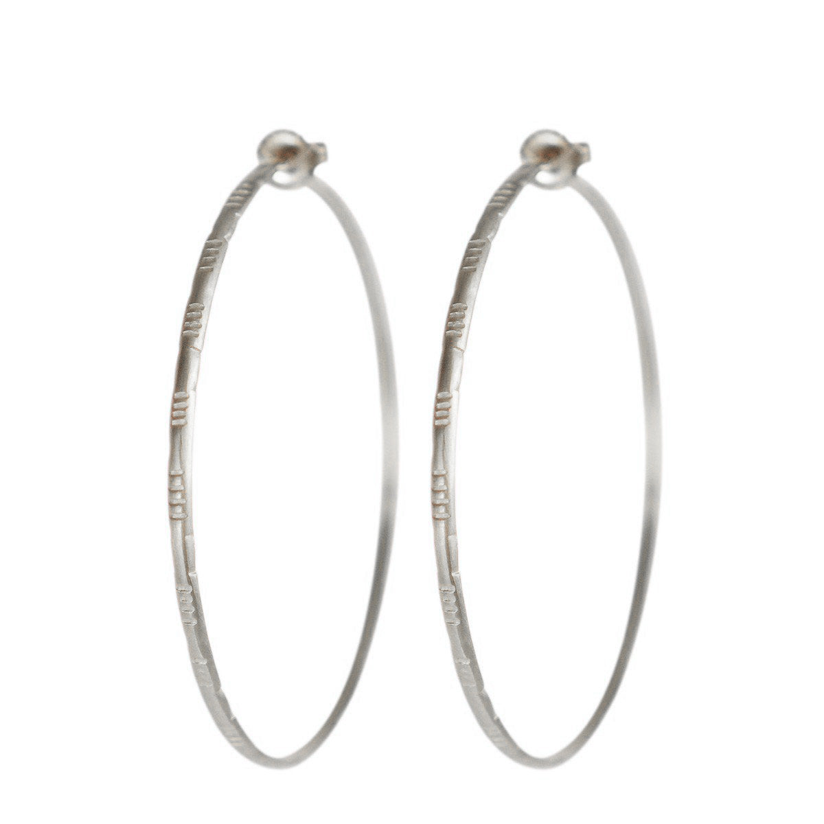 Sterling Silver Large Moroccan Endless Hoop Earrings