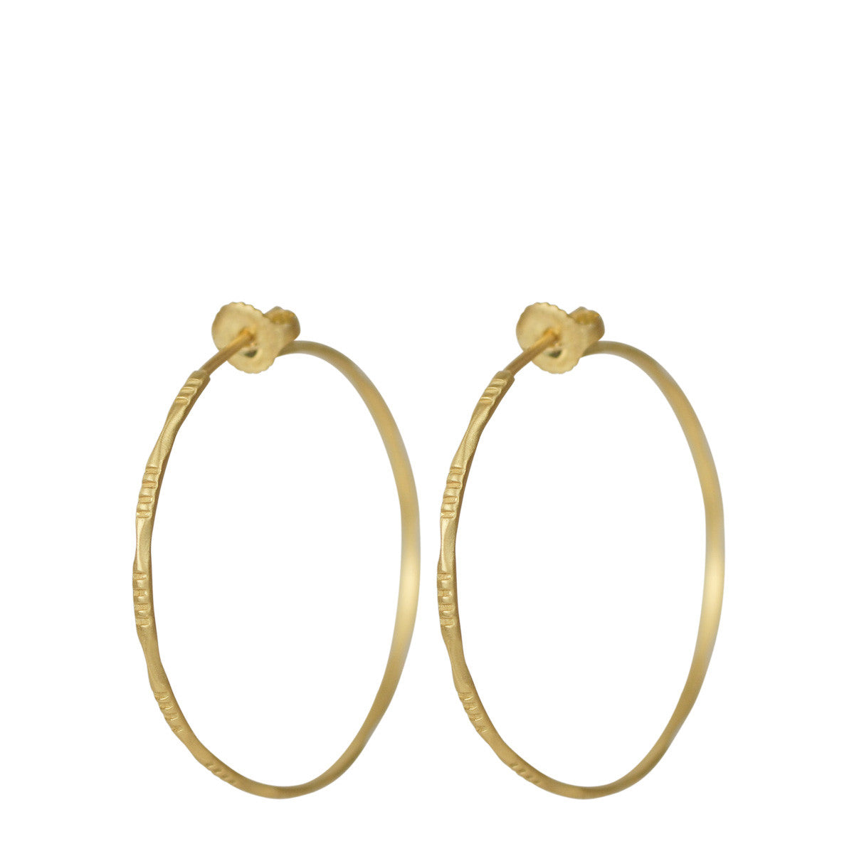 18K Gold Medium Moroccan Endless Hoop Earrings