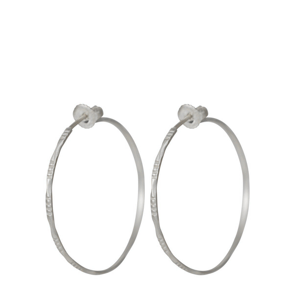 Sterling Silver Medium Moroccan Endless Hoop Earrings