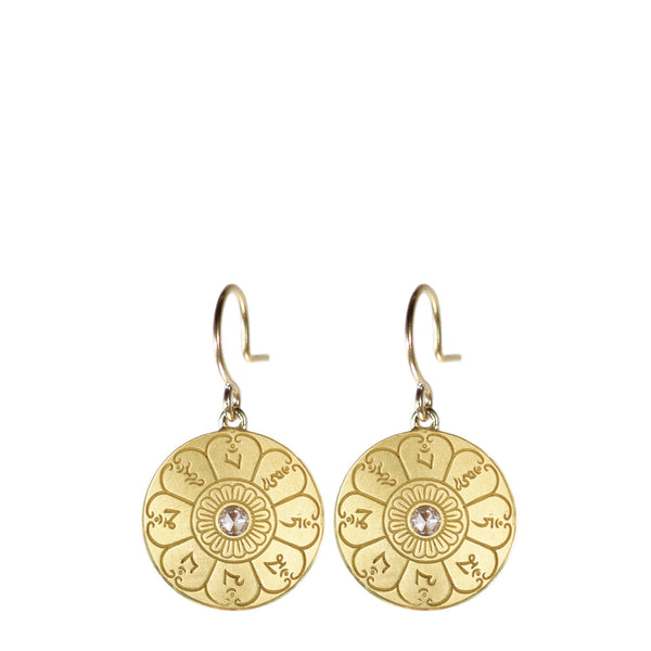 18K Gold Ritual Bell Earrings with Diamonds
