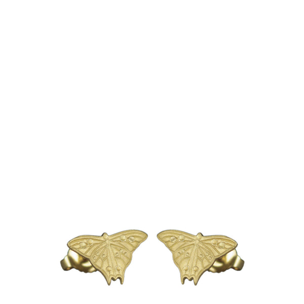 18K Gold Butterfly Stud Earrings