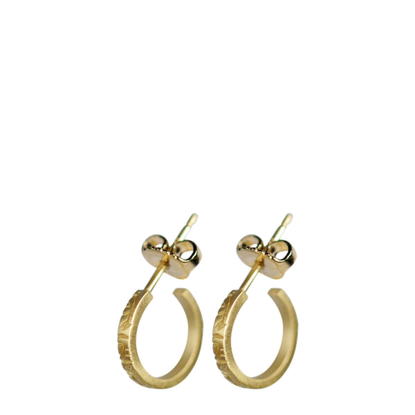 18K Gold Small Paisley Hoop Earrings