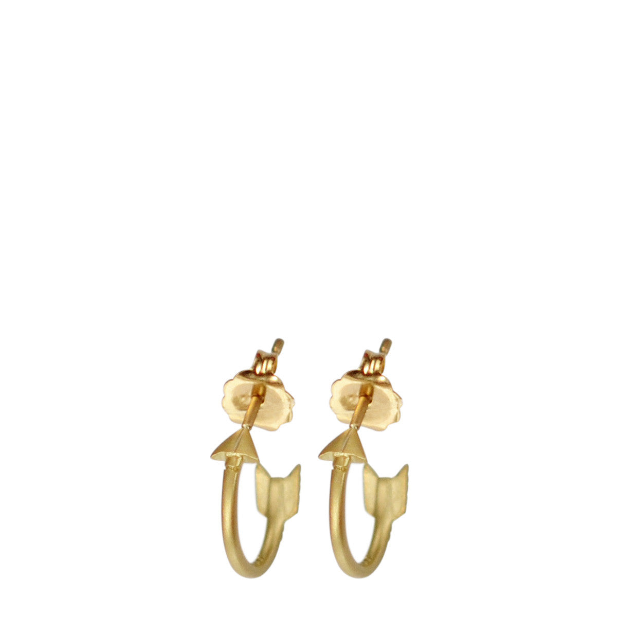 18K Gold Arrow Hoop Earrings