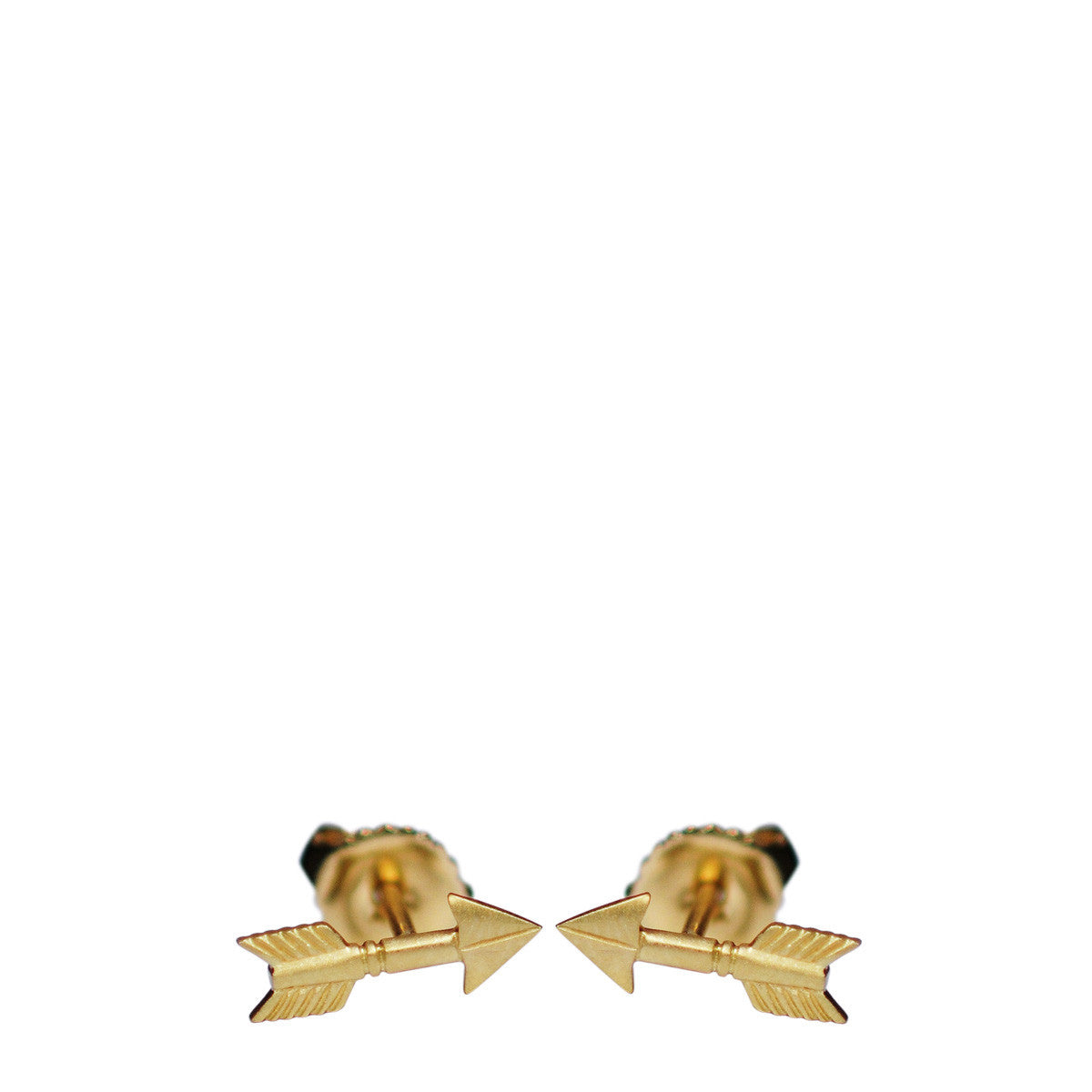 18K Gold Arrow Stud Earrings