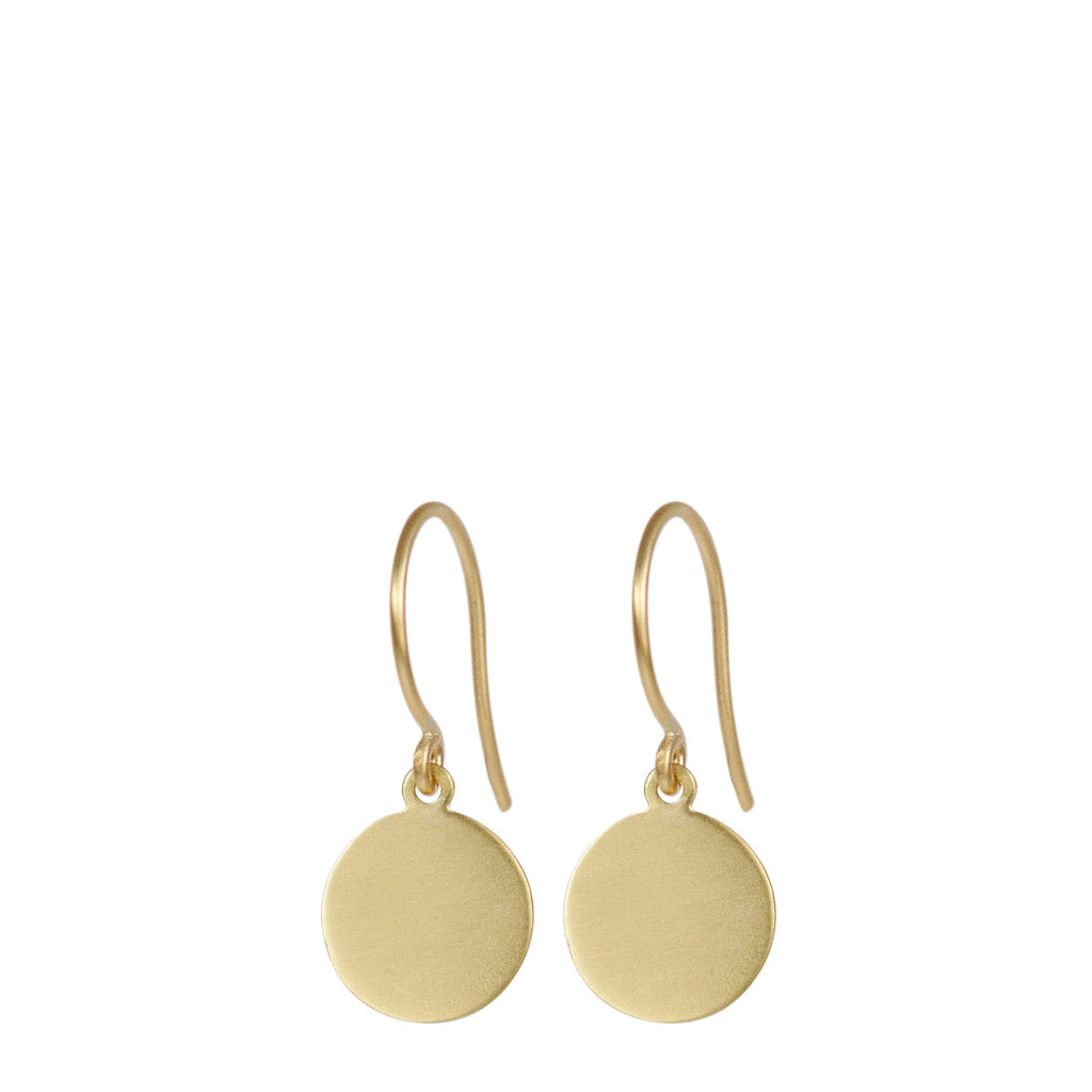 18K Gold Medium Disc Earrings