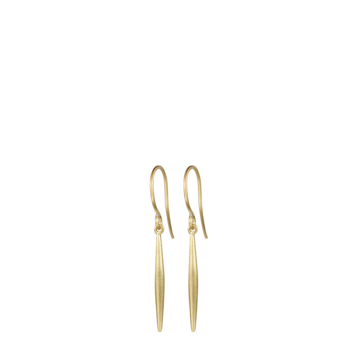 18K Gold Large Lure Drop Earring