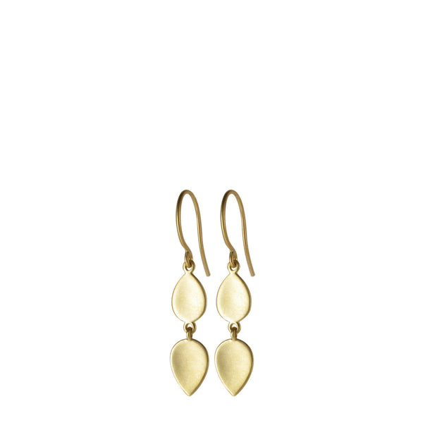 18K Gold Double Lotus Petal Earring