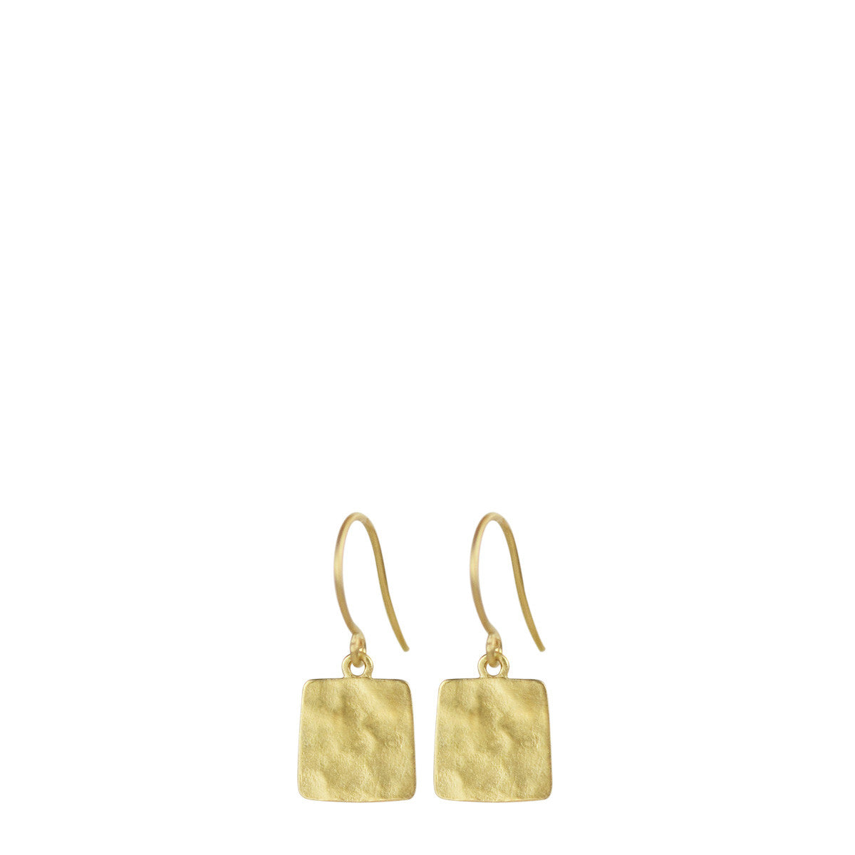 18K Gold Tiny Sequin Square Earrings