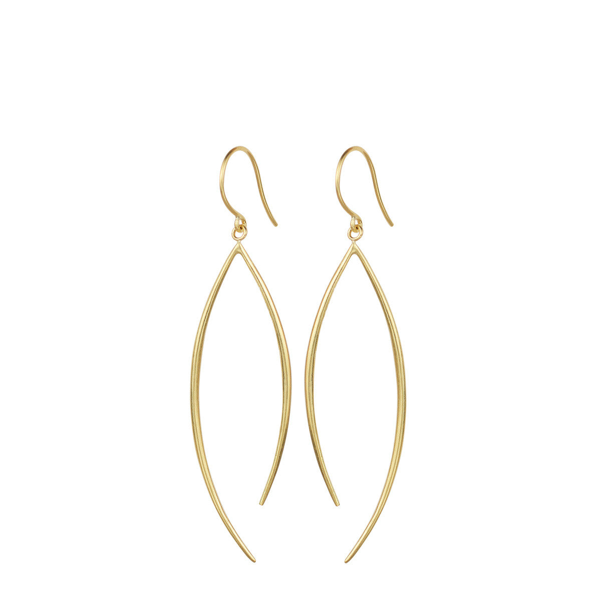 18K Gold Medium O' Earring