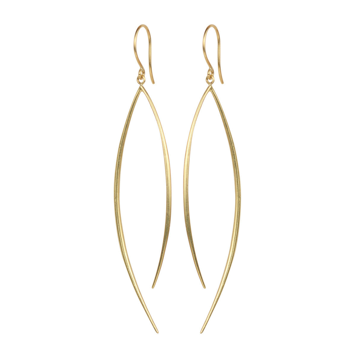 18K Gold Large O' Earring