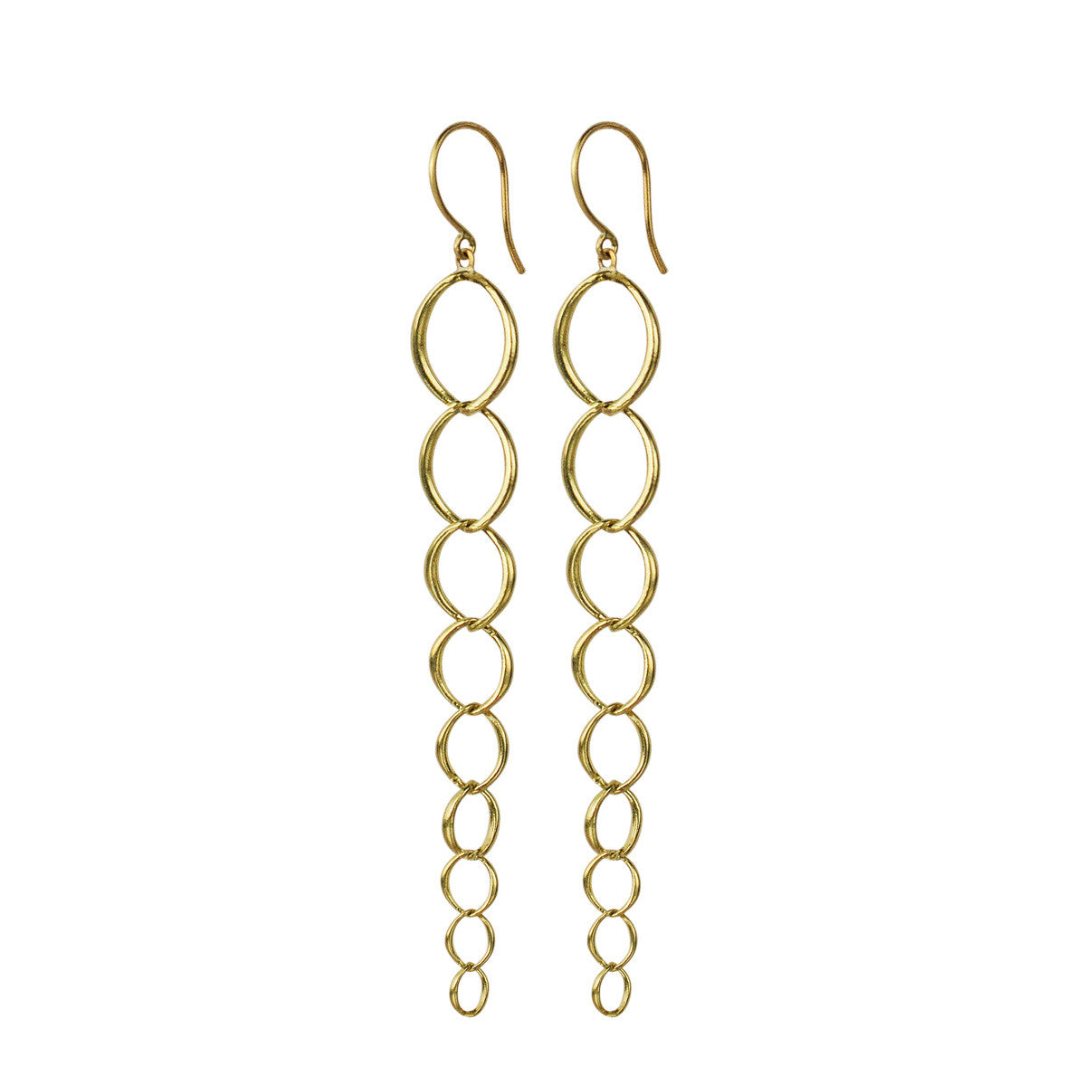 18K Gold Graduated O' Chain Earring