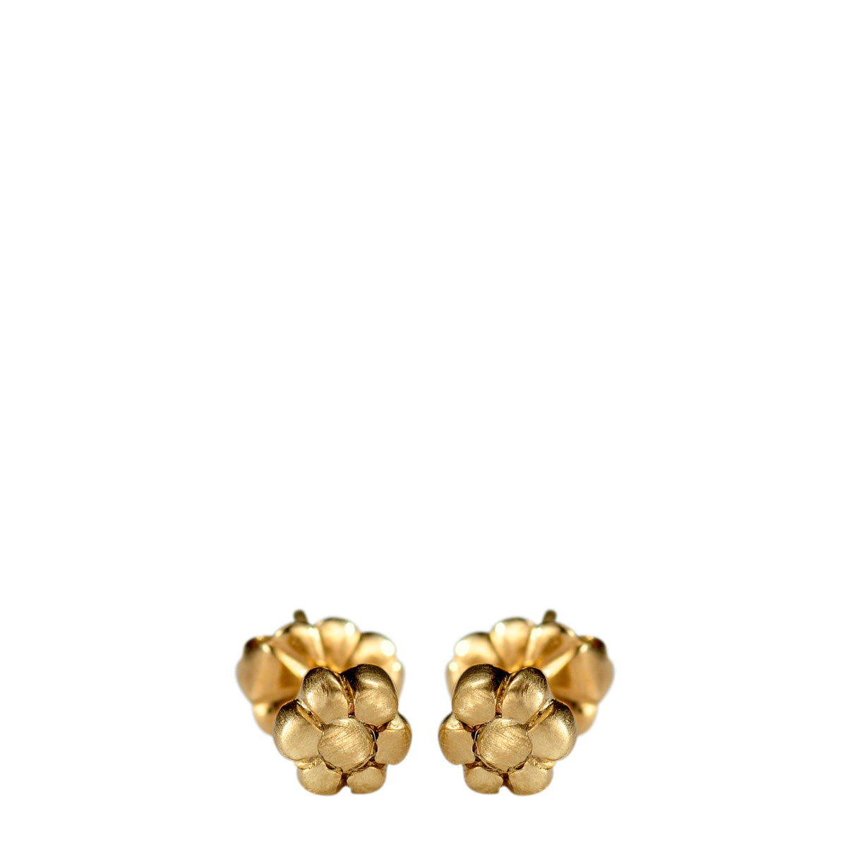 10K Gold Tiny Flower Stud Earrings