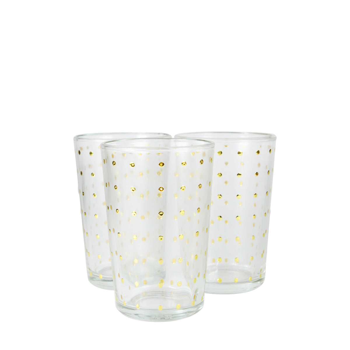 Gold Polka Dot Tea Glasses (Set of 6)