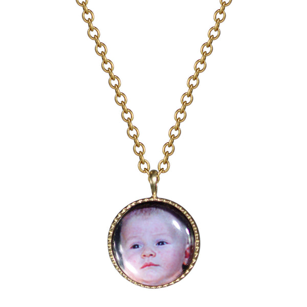 18K Gold Custom Picture Pendant