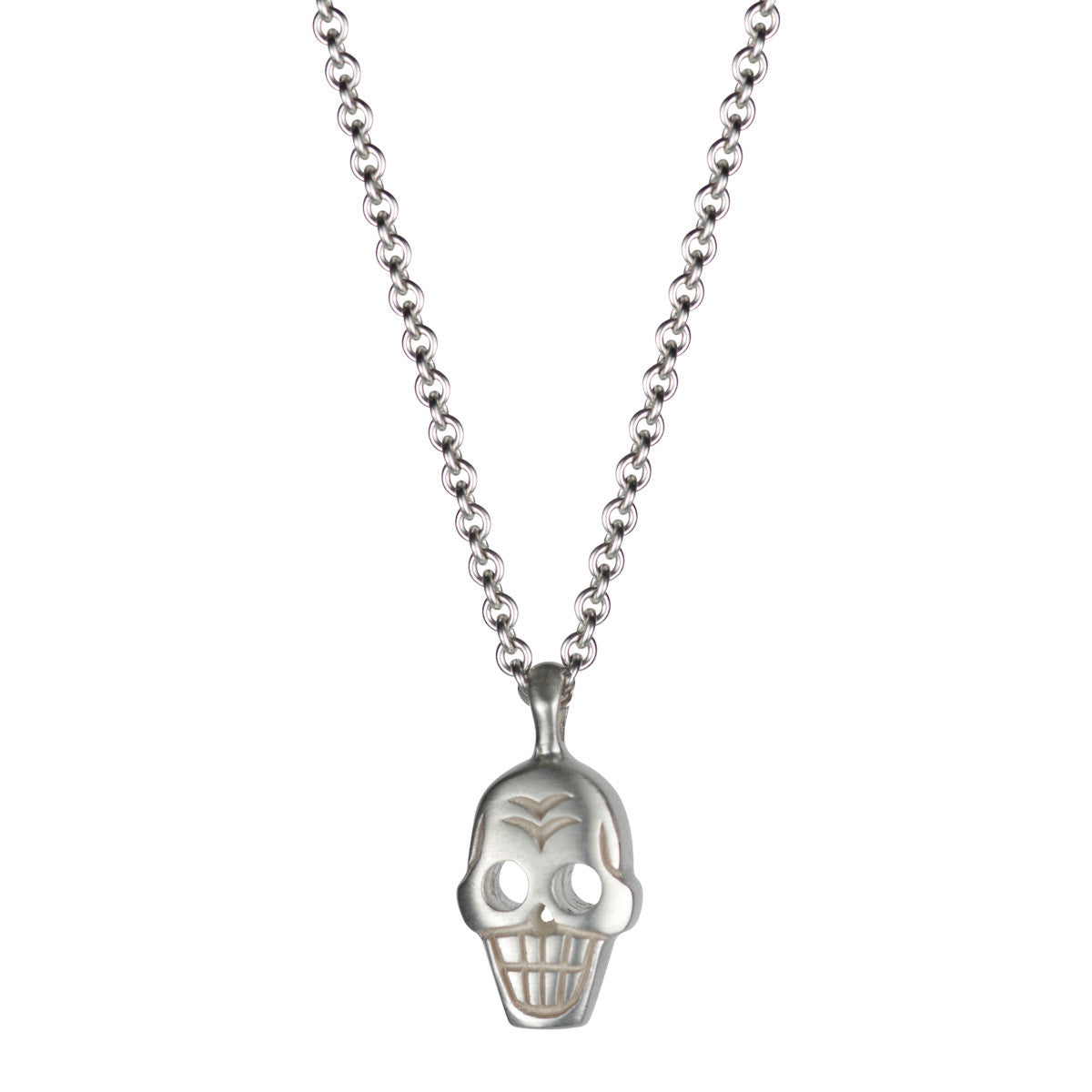 Men's Sterling Silver Large Skull Pendant