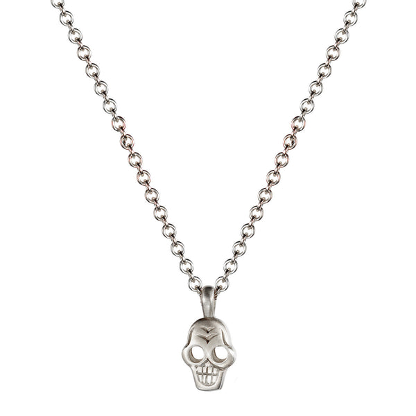 Children's Sterling Silver Tiny Skull Pendant