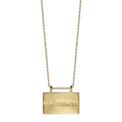 10K Gold Joyful Heart Foundation Fearlessness Pendant