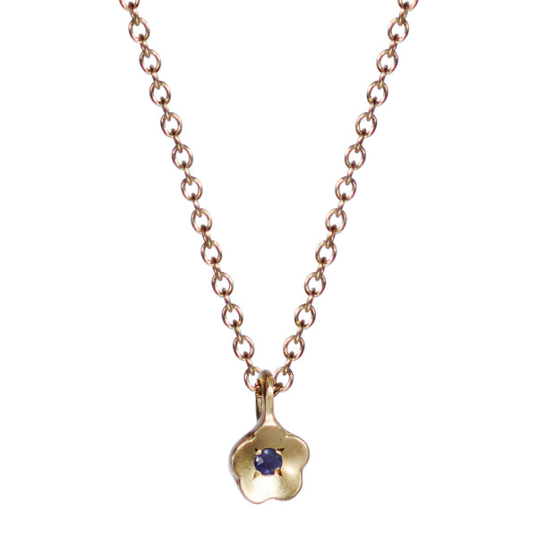 10K Gold Buttercup Pendant with Iolite